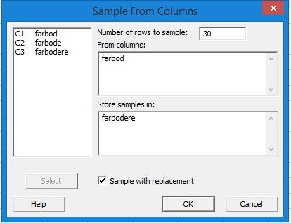 آموزش تولید نمونه تصادفی ساده در minitab